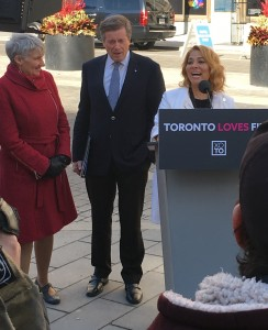Neishaw Ali introduces Toronto Mayor John Tory