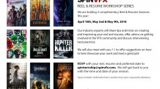 Reel & Resume Workshops 2018
