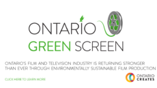 Ontario Creates Launches the 'Ontario Green Screen' Program
